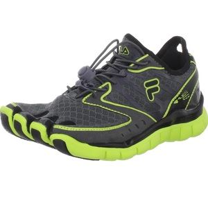 Fila Skele-Toes Amp Boys Green/Gray Shoes Size 4.5